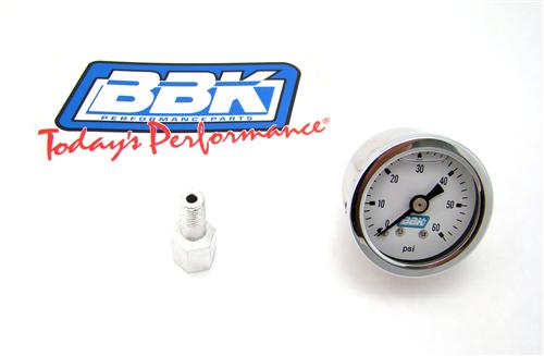 BBK  0-60 Psi Liquid Filled Fuel Pressure Gauge