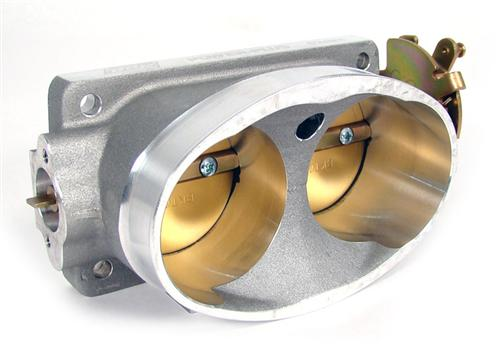 BBK  Mustang Twin 62mm Throttle Body Satin (96-01) Cobra  4V 4.6