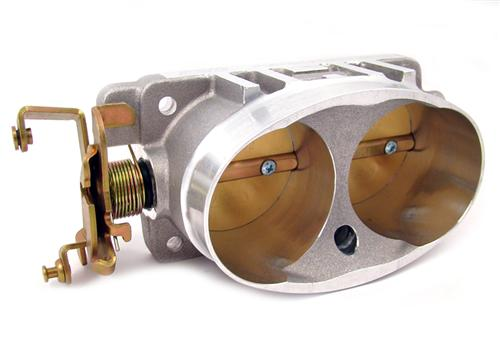 BBK  Mustang Twin 65mm Throttle Body Satin (03-04) Cobra 4V 4.6
