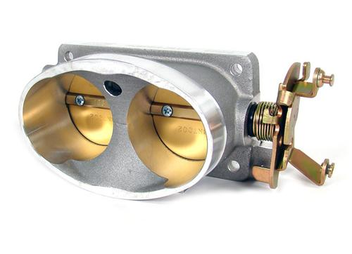 BBK  Mustang Twin 65mm Throttle Body Satin (96-01) Cobra 4V 4.6 1711