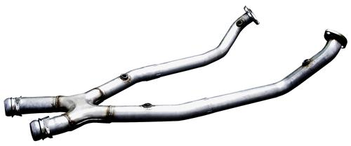 Bassani Mustang Off-Road X-Pipe for Automatic Stainless (99-04) GT-Mach 1