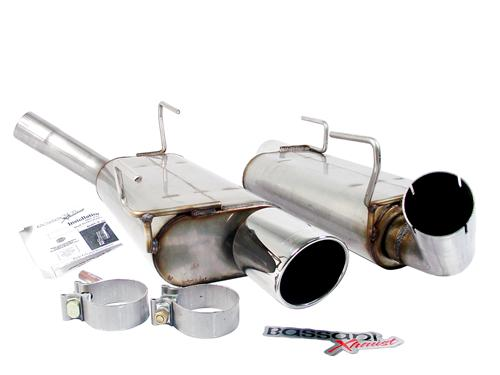 Bassani Mustang Axle-Back Exhaust  (05-10) GT-GT500 4.6L 5.4L 46055