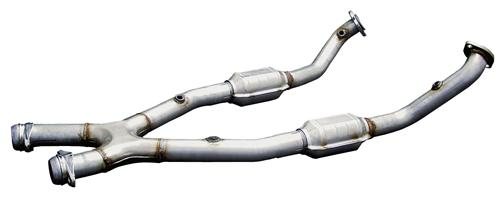 Bassani Mustang Catted X Pipe For Shorty Headers w/ Manual Trans Stainless (99-04) 4.6 46993