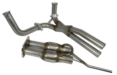 Bassani F-150 SVT Lightning Catalytic Mid-Pipe Stainless  (93-95) 5.8