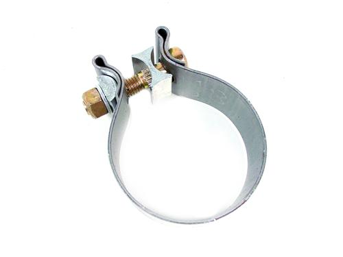 "Bassani Mustang Band Clamp - 2.5""  Stainless (79-14) TC250"