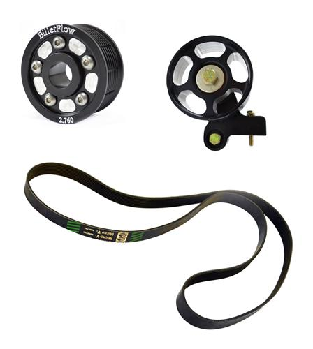 "BilletFlow Mustang  2.76"" Supercharger Pulley Kit Black (03-04) Cobra 4.6L"