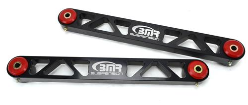 BMR Mustang Rear Control Arms w/ Polyurethane Bushings Black Anodized Billet (05-14) ACA004