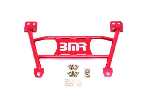 05-14 Mustang Radiator Support to K-Member Lower Chassis Brace Red  - 05-14 Mustang Radiator Support to K-Member Lower Chassis Brace Red