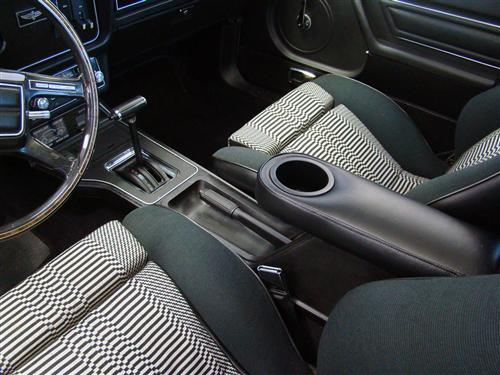 Mustang Center Console Arm Rest Cup Holder Black (79-86)