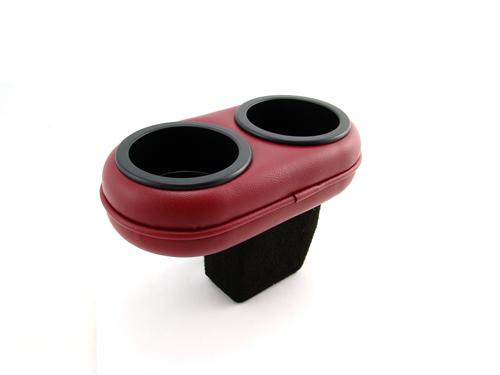 Mustang Plug And Chug Drink Holder Scarlet Red  (87-92)