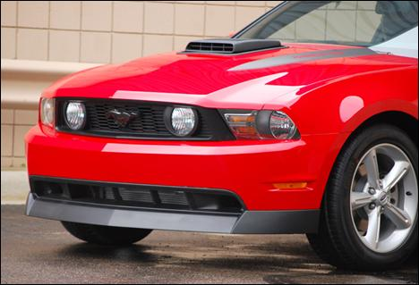 Mustang Classic Style Chin Spoiler Black Textured (10-12)