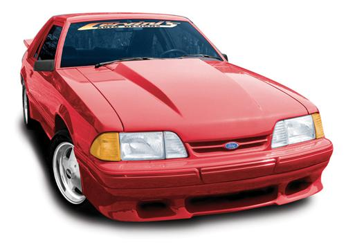 "87-93 MUSTANG 2.5"" COWL INDUCTION LIFT-OFF FIBERGLASS HOOD"