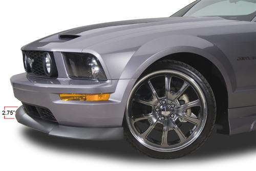 05-09 MUSTANG TYPE 2 FRONT CHIN SPOILER WITH BLACK TEXTURED FINISH