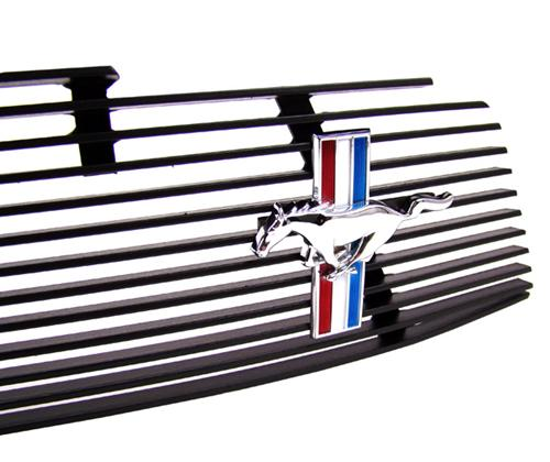 Cervinis  Mustang Black Upper Billet Grille with Pony Emblem (10-12)
