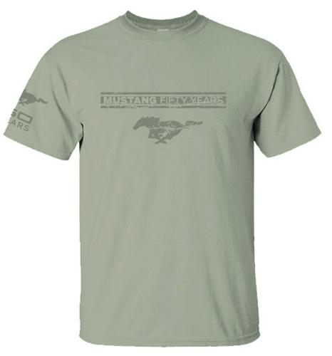 Mustang 50 Years Sand T Shirt Large - Mustang 50 Years Sand T Shirt Large