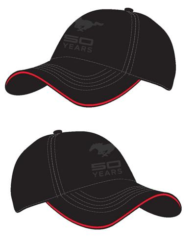 Mustang 50 Years Black Hat - Mustang 50 Years Black Hat