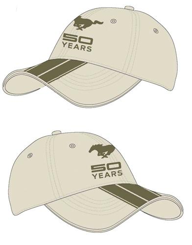 Mustang 50 Years Khaki Hat - Mustang 50 Years Khaki Hat