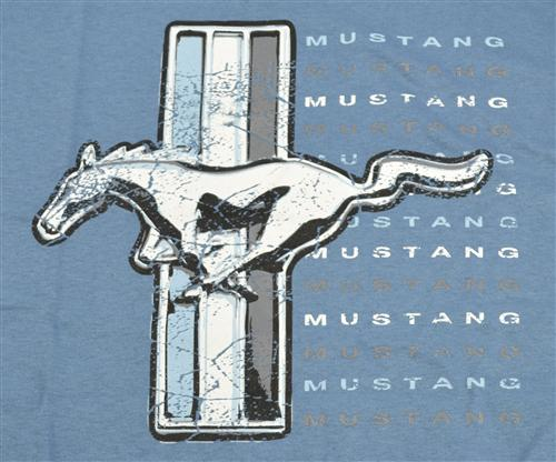 Ford Mustang Running Pony T-Shirt, XXL Blue