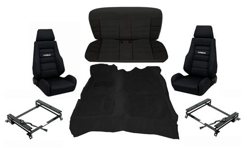 Corbeau Mustang GTS 2 Interior Upgrade Kit Black (84-93) Hatchback