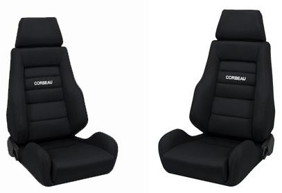 Corbeau Mustang GTS 2 Seat Pair Black Cloth