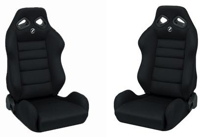 Corbeau Mustang TRS Wide Seat Pair Black Cloth - Picture of Corbeau Mustang TRS Wide Seat Pair Black Cloth