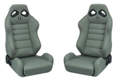 Corbeau Mustang TRS Seat Pair Gray Cloth