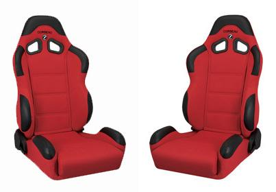 Corbeau Mustang CR1 Seat Pair Red Cloth