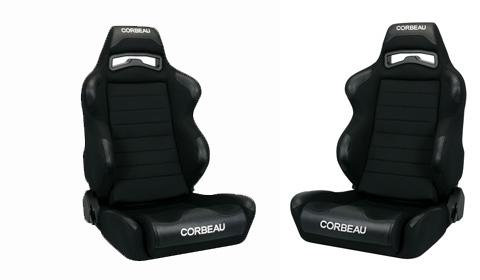 Corbeau Mustang LG1 Seat Pair Black Cloth
