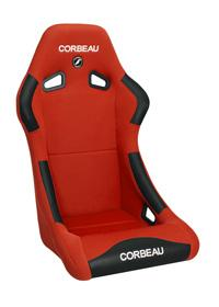 Corbeau Mustang Forza Seat Red Cloth - Picture of Corbeau Mustang Forza Seat Red Cloth
