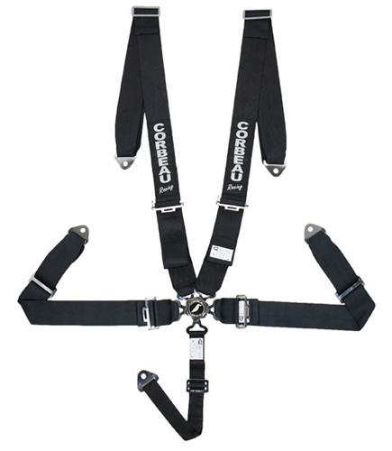 "Corbeau 3"" 5 Point Bolt In Camlock Harness, SFI Approved Black"
