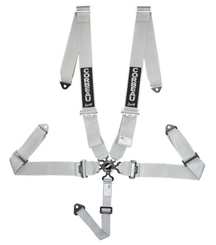 Corbeau 5 Point Camlock Harness Silver SFI Approved
