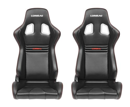 Corbeau Sportline Evolution Seat Pair, Black Vinyl/Carbon. Will fit any of our corbeau seat tracks  http://www.corbeau.com/products/reclining_seats/sportline_evolution/ - Corbeau Sportline Evolution Seat Pair, Black Vinyl/Carbon. Will fit any of our corbeau seat tracks  http://www.corbeau.com/products/reclining_seats/sportline_evolution/