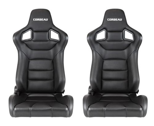 Corbeau Sportline RRS Seat, Pair. Black Vinyl, Carbon Vinyl. Fits all current corbeau seat tracks  http://www.corbeau.com/products/reclining_seats/sportline_rrs/ - Corbeau Sportline RRS Seat, Pair. Black Vinyl, Carbon Vinyl. Fits all current corbeau seat tracks  http://www.corbeau.com/products/reclining_seats/sportline_rrs/