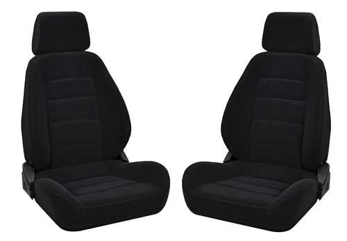 Corbeau Sport Seat Pair Black Cloth