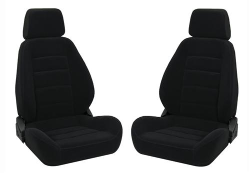 Corbeau Sport Seat Pair Black Cloth - Picture of Corbeau Sport Seat Pair Black Cloth