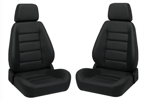 Corbeau Sport Seat Pair Black Vinyl - Picture of Corbeau Sport Seat Pair Black Vinyl