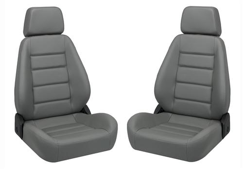 Corbeau Sport Seat Pair Gray Vinyl - Picture of Corbeau Sport Seat Pair Gray Vinyl