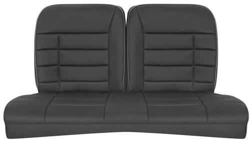 Corbeau Mustang Rear Seat Upholstery Black Cloth (79-93) Coupe