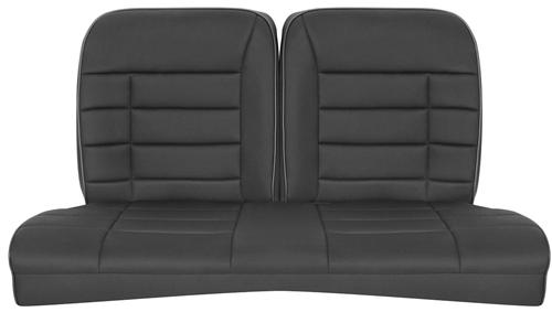 Corbeau Mustang Rear Seat Upholstery Black Cloth (83-93) Convertible