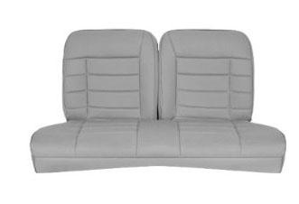 Corbeau Mustang Rear Seat Upholstery Gray Cloth (83-93) Convertible