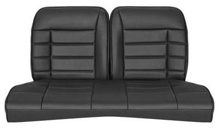 Corbeau Mustang Rear Seat Upholstery Black Vinyl (79-93) Coupe