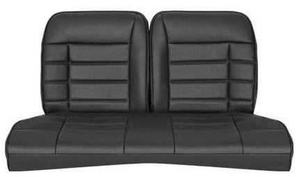 Corbeau Mustang Rear Seat Upholstery Black Vinyl (83-93) Convertible