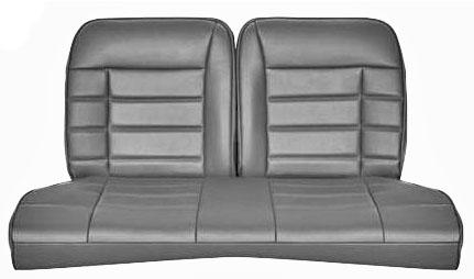 Corbeau Mustang Rear Seat Upholstery Gray Vinyl (83-93) Convertible