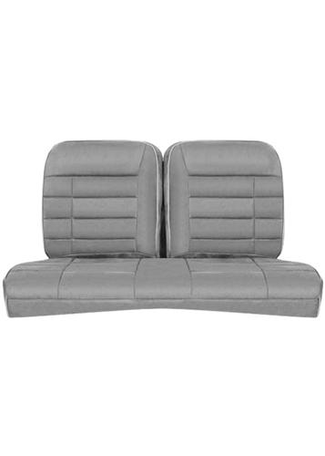 Corbeau Mustang Rear Seat Upholstery Gray Vinyl (84-93) Hatchback