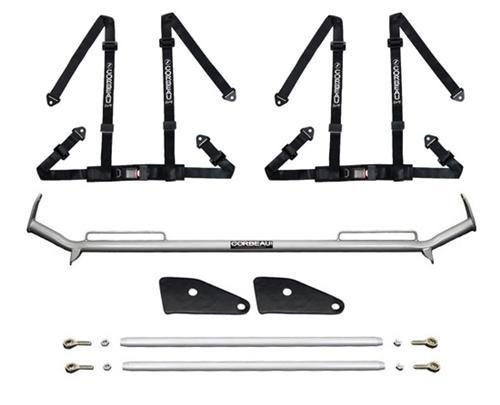 "Corbeau Mustang 2"" Bolt In 4 Point Harness & Bar Kit Black (79-93)"