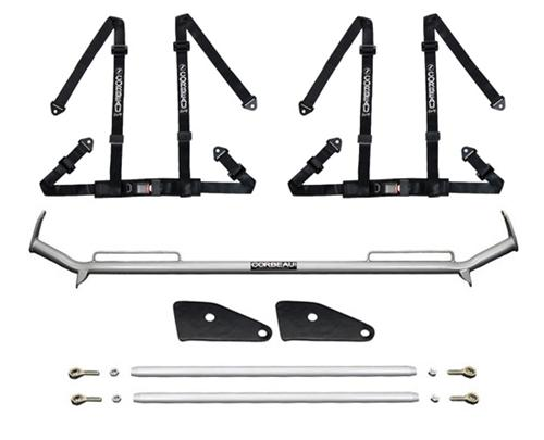"Corbeau Mustang 2"" Bolt In 4 Point Harness & Bar Kit Black (94-04)"