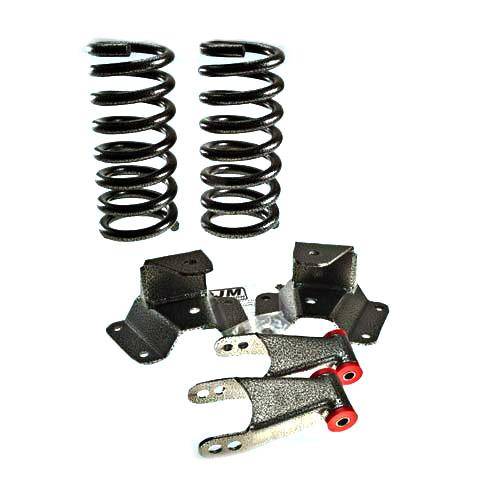 "99-04 FORD LIGHTNING DJM 1/2"" DROP KIT   includes front coil springs and rear hanger & shackle kit."