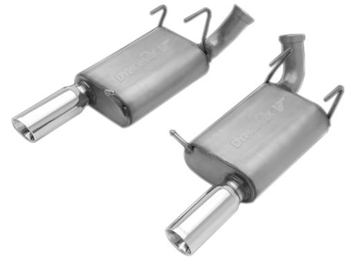 2011-12 Mustang GT Dynomax Ultra Flo Welded Axle Back Exhaust Kit - Picture of 2011-12 Mustang GT Dynomax Ultra Flo Welded Axle Back Exhaust Kit