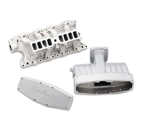 Edelbrock Mustang Performer Intake Manifold Titanium Powdercoated (86-95) GT 5.0L 3821 - Picture of Edelbrock Mustang Performer Intake Manifold Titanium Powdercoated (86-95) GT 5.0L 3821