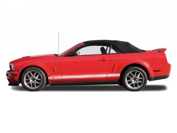 Electron Top Mustang Cloth Convertible Top And Window with Defrost Black (05-14) CT7-BLKCLOTH